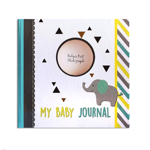 Hugmemom Baby Journal - Grey Elly