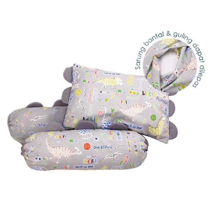 Kiddy Baby Pillow Set KD2633 Dino - Set Bantal Bayi