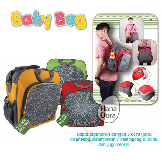 Kiddy Diaper Bag 3in1 KD5006 - Biru - Tas Bayi