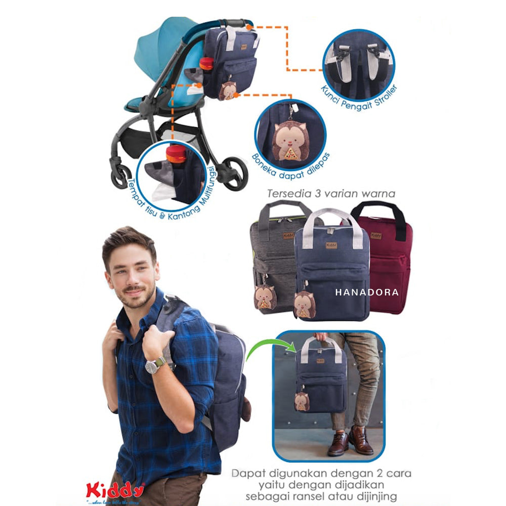 Kiddy Diaper Bag KD5030 - Tas Bayi - Biru