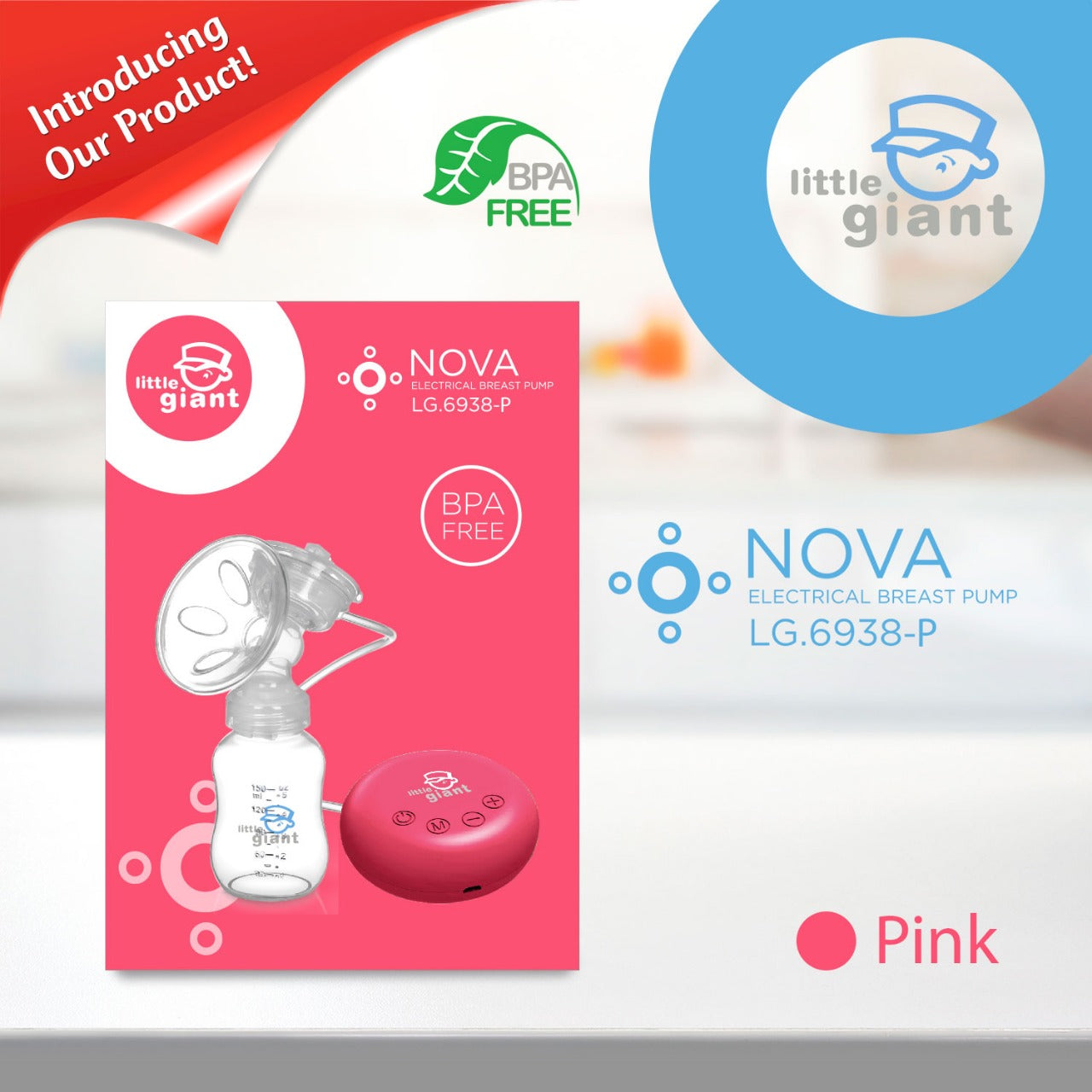 Little Giant Electrical Breastpump NOVA LG6938 - Pink