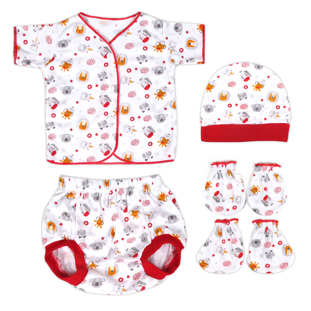 Miabelle Newborn Set 4in1 FP03 - Merah