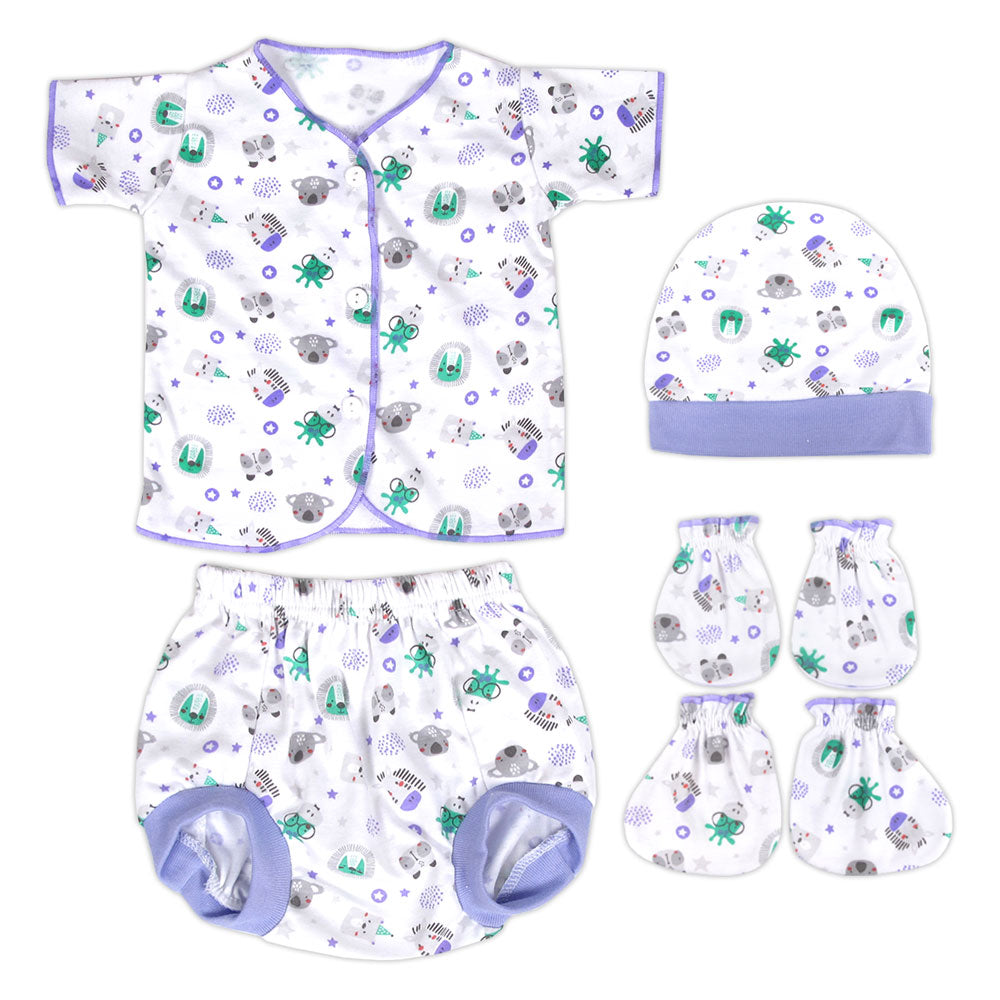 Miabelle Newborn Set 4in1 FP03 - Ungu
