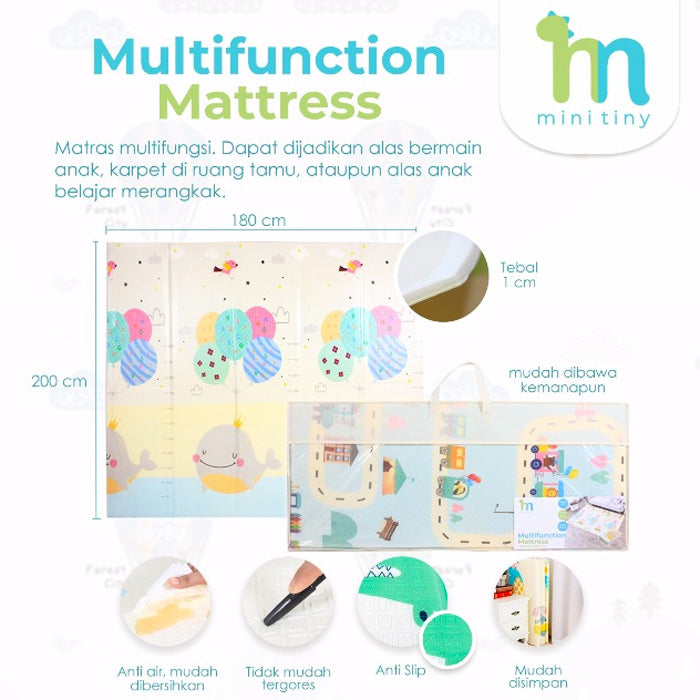 Minitiny Multifunction Mattress 180x200cm - Dino