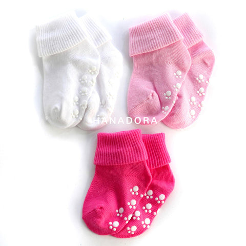 Catell Love Kaos Kaki Polos Set 3pcs - Girl