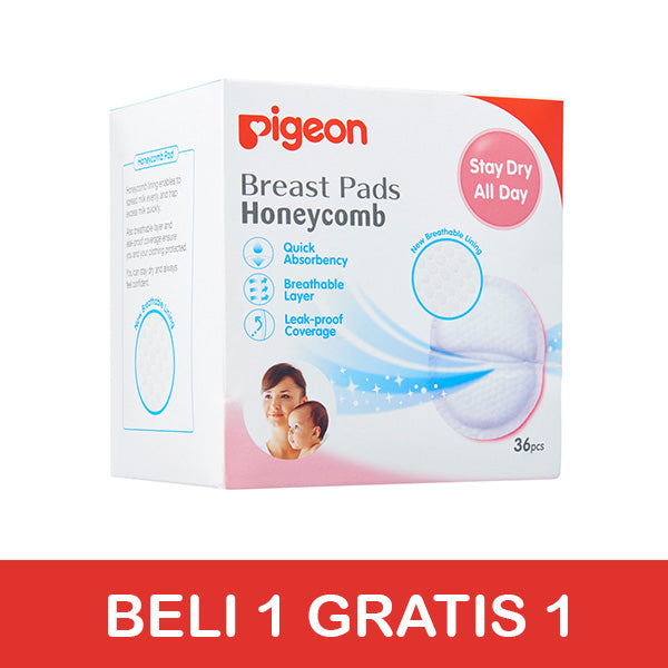 [BUY 1 GET 1] Pigeon Breast Pads Honeycomb 36pcs