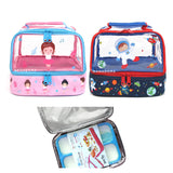 Lunch Box Set Yooyee 579 + Double Decker Bag - Astronout