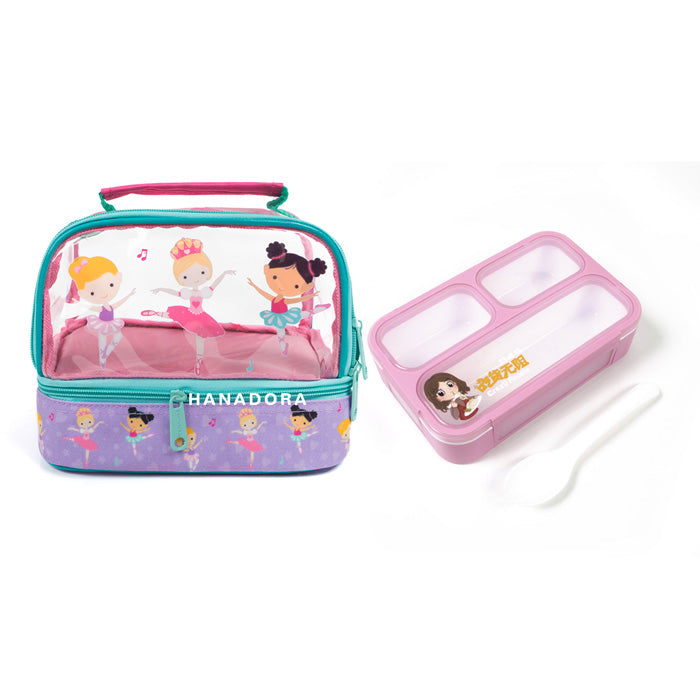 Lunch Box Set Yooyee Mini + Double Decker Bag - Ballerina
