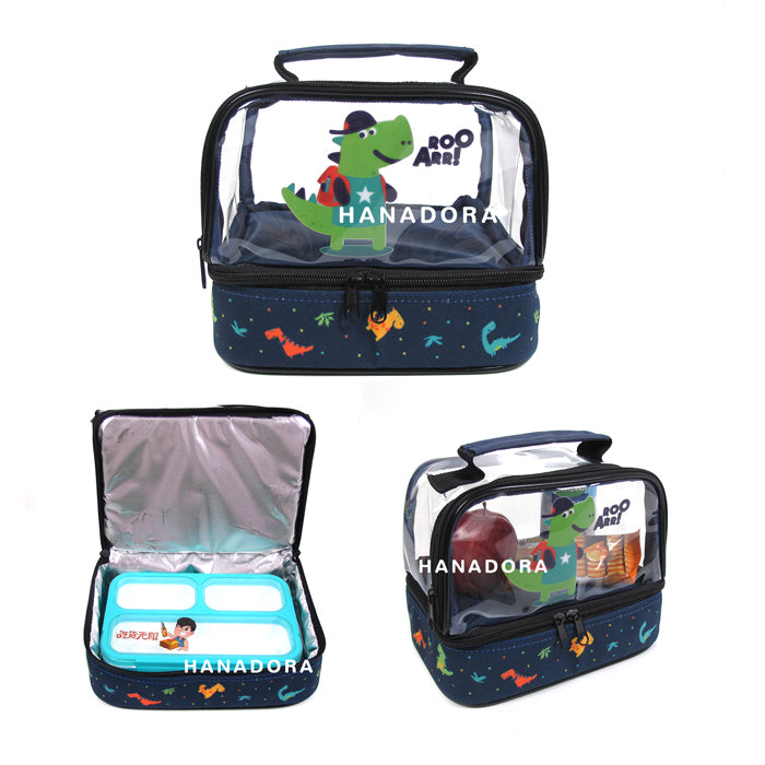 Lunch Box Set Yooyee Mini + Double Decker Bag - Dino