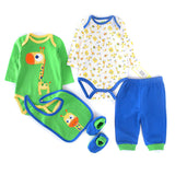 NB 5in1 Baby Clothing Set - Giraffe