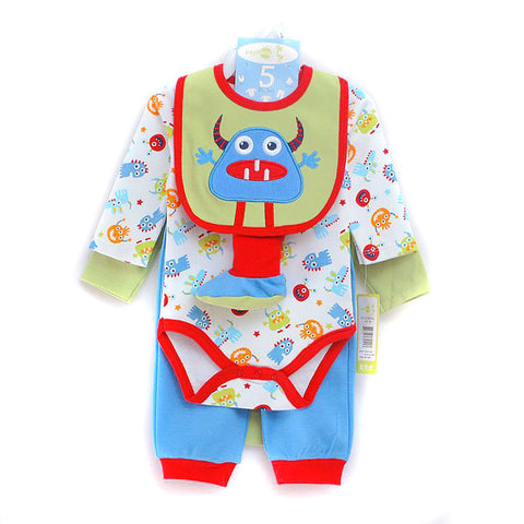 NB 5in1 Baby Clothing Set - Monster