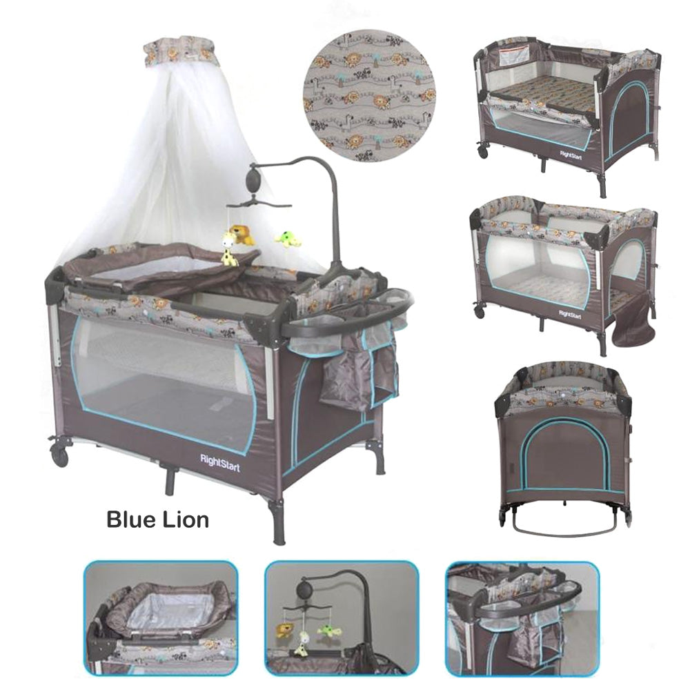 Right Starts 8in1 Playard Blue Lion - Box Bayi