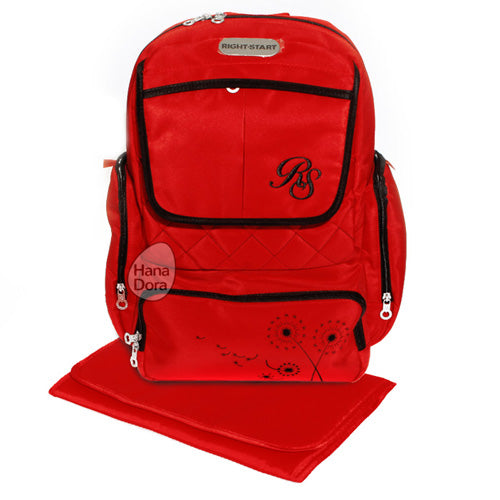 Right Starts Diaper Bag Backpack 554020 - Red