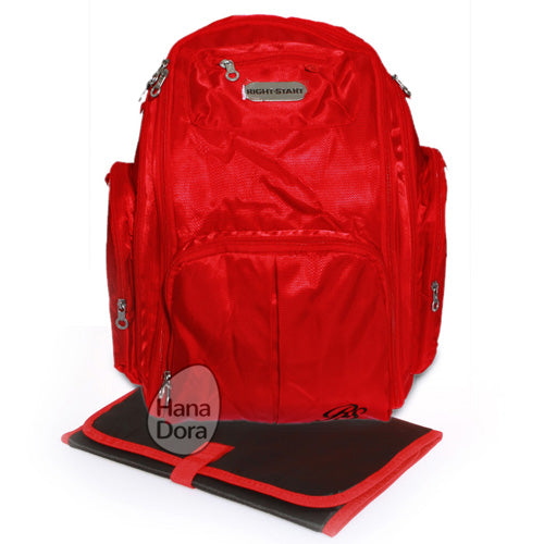 Right Starts Diaper Bag Backpack 0976 - Red