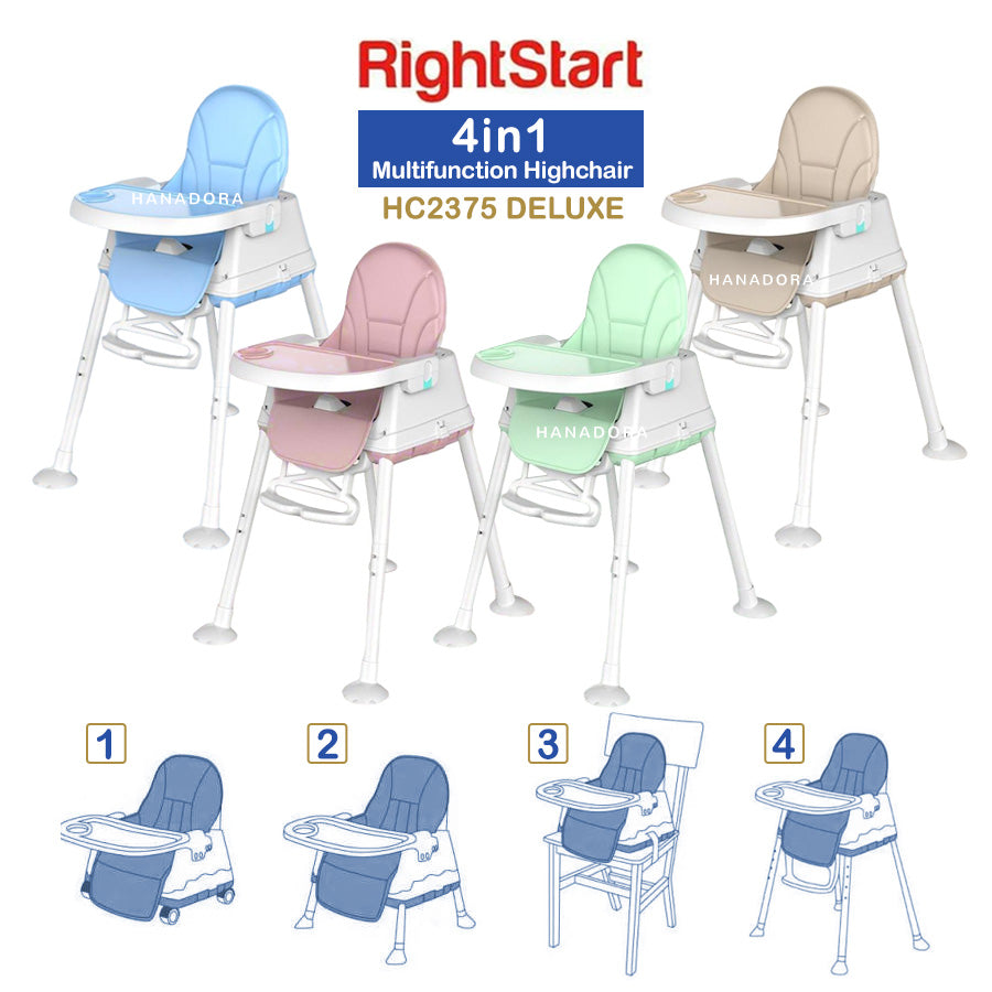 Right Start 4in1 Highchair HC2375 Deluxe