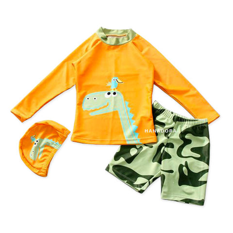 NB Swimming Suit SW02 - Baju Renang Anak - Dino Orange