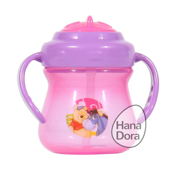 Disney Pooh Straw Bottle with Handle WTP07065