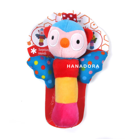 Catell Love Rattle Stick Wings - Owl