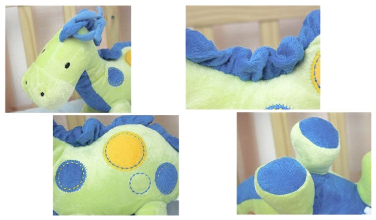 Baby Grow Musical String Plush Toy - Blue Dino
