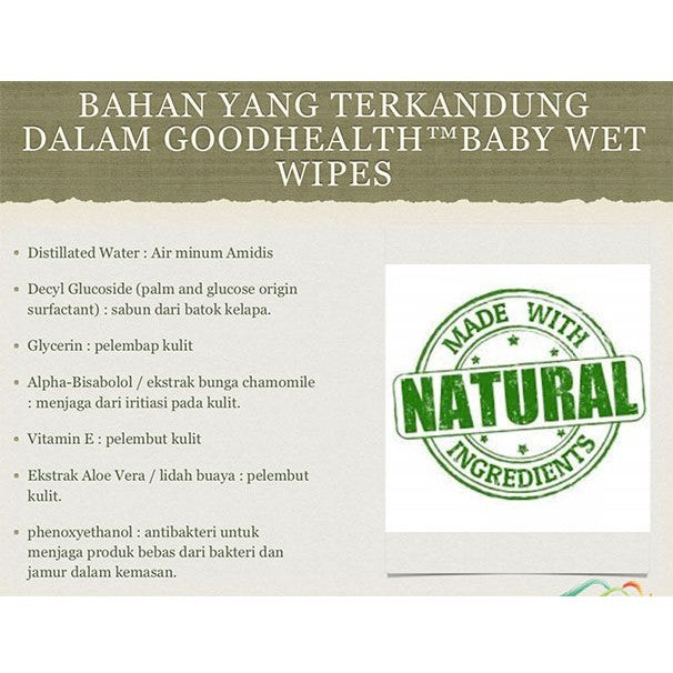 Goodhealth Baby Wet Gloves - Washlap Basah