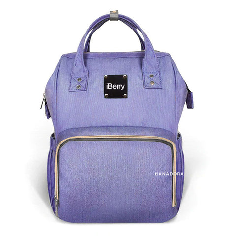 iBerry London Diaper Bag Backpack - Tas Bayi - Biru