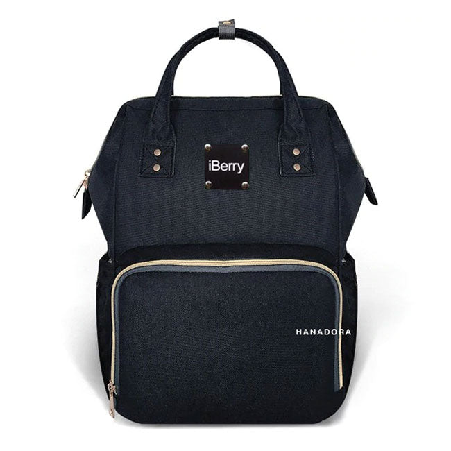 iBerry London Diaper Bag Backpack - Tas Bayi - Hitam