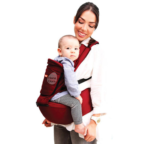 Kiddy Hiprest Baby Carrier 2in1 KD7194 - Maroon - Gendongan Bayi