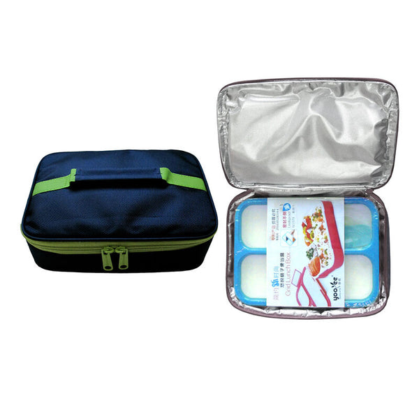 Lunch Box Set Yooyee 579 + Bag - Navy