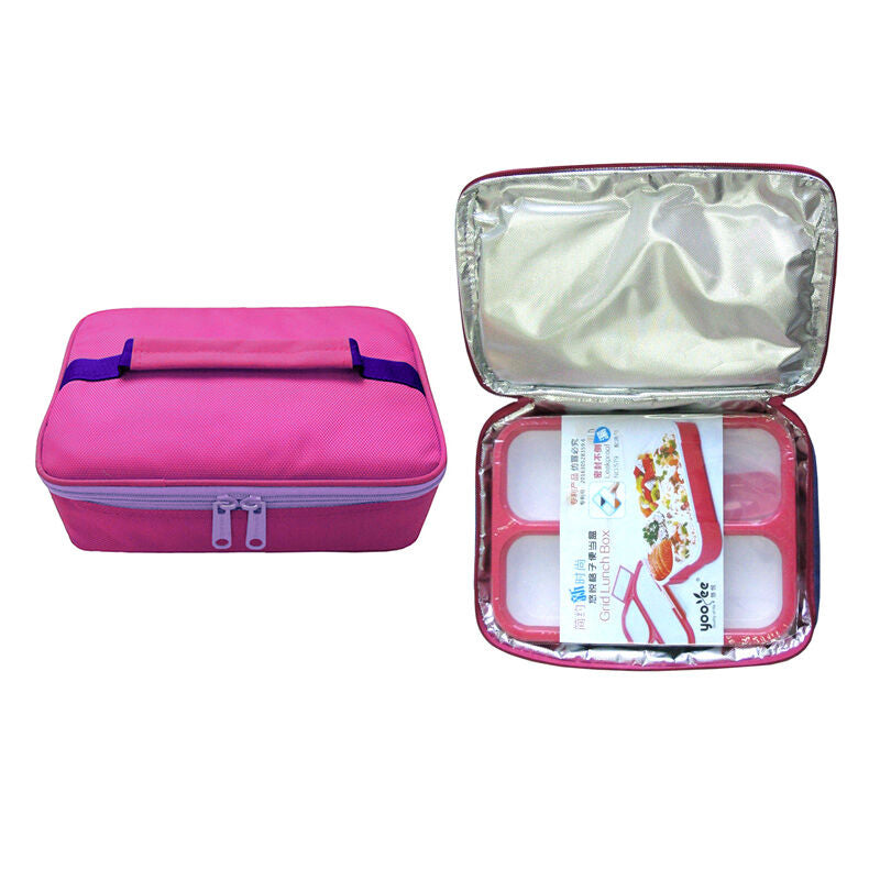 Lunch Box Set Yooyee 579 + Bag - Pink
