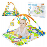 NB Baby Playmat Monkey & Friends 4-Bar 023-44 - Matras Mainan Bayi