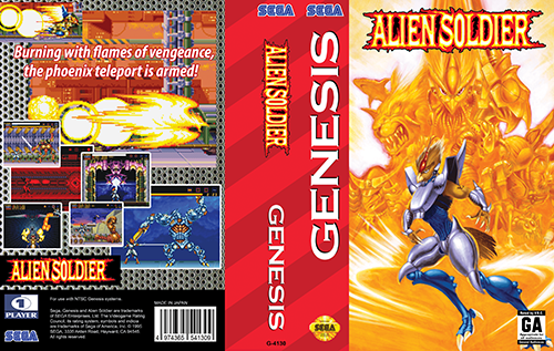 Alien Soldier Genesis cover