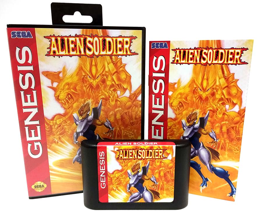 Alien Soldier Sega Genesis Reproduction Repro