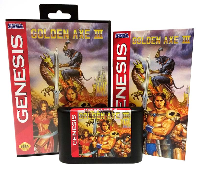 Golden Axe III Sega Genesis Reproduction Repro