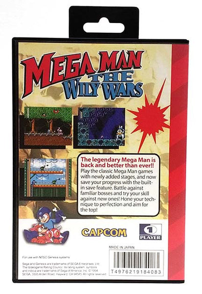 Mega Man: The Wily Wars Sega Genesis Reproduction Repro