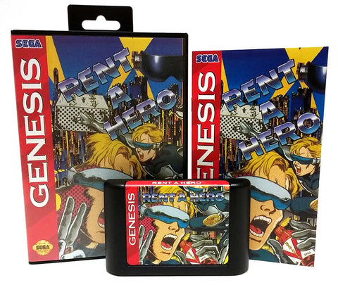 Rent-A-Hero Sega Genesis Reproduction Repro