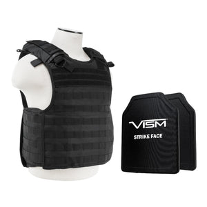 "QR Carrier Vest with 10"" x 12"" PE Hard Plates - Black"