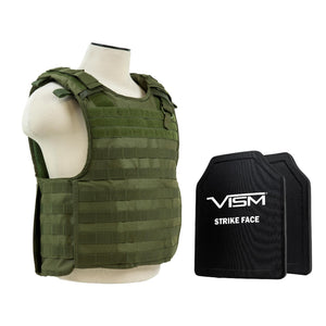 "QR Carrier Vest with 10"" x 12"" PE Hard Plates - Green"