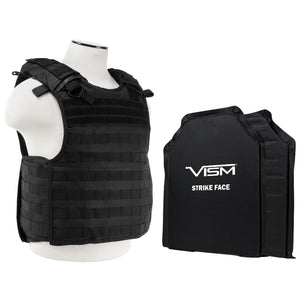"QR Plate Carrier Vest with 11"" x 14"" Soft Panels - Black"