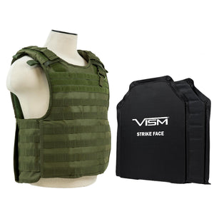 "QR Plate Carrier Vest with 11"" x 14"" Soft Panels - Green"