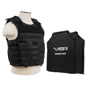 "Expert Plate Carrier Vest with 11"" x 14"" Soft Panels - Black"