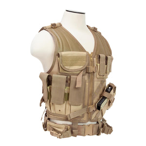 Tactical Vest - Tan, XL-XXL+