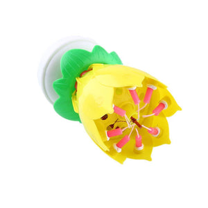 Musical Candle Lotus Flower - CubeTrends