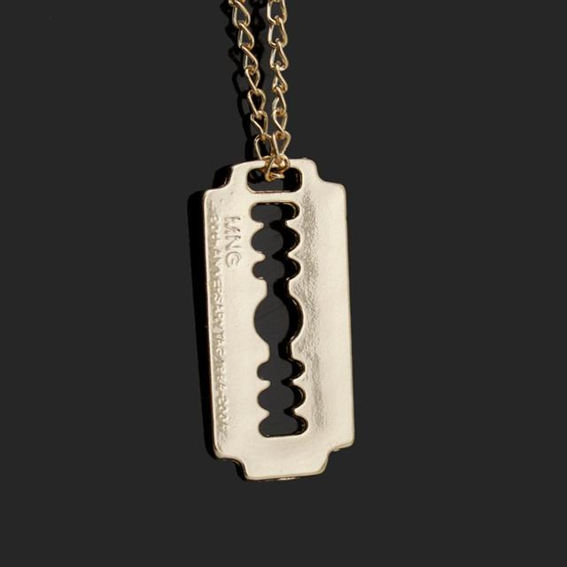 Gold Silver Style  Blade Pendant 18