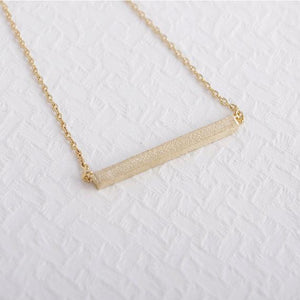 Square Bar Clavicle Necklace - CubeTrends