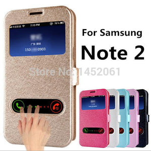 Flip Case For Samsung Galaxy Note 2 II N7100 - CubeTrends