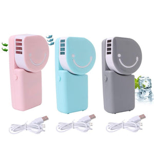 Portable USB Rechargeable Hand Held Air Conditioner Cooling Summer Cooler Fan - CubeTrends