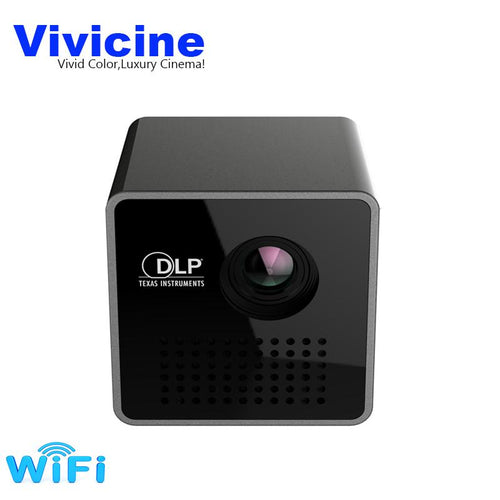 Vivicine P1+ WIFI Wireless Pocket LED Mini Projector - Works with mobile phones - CubeTrends