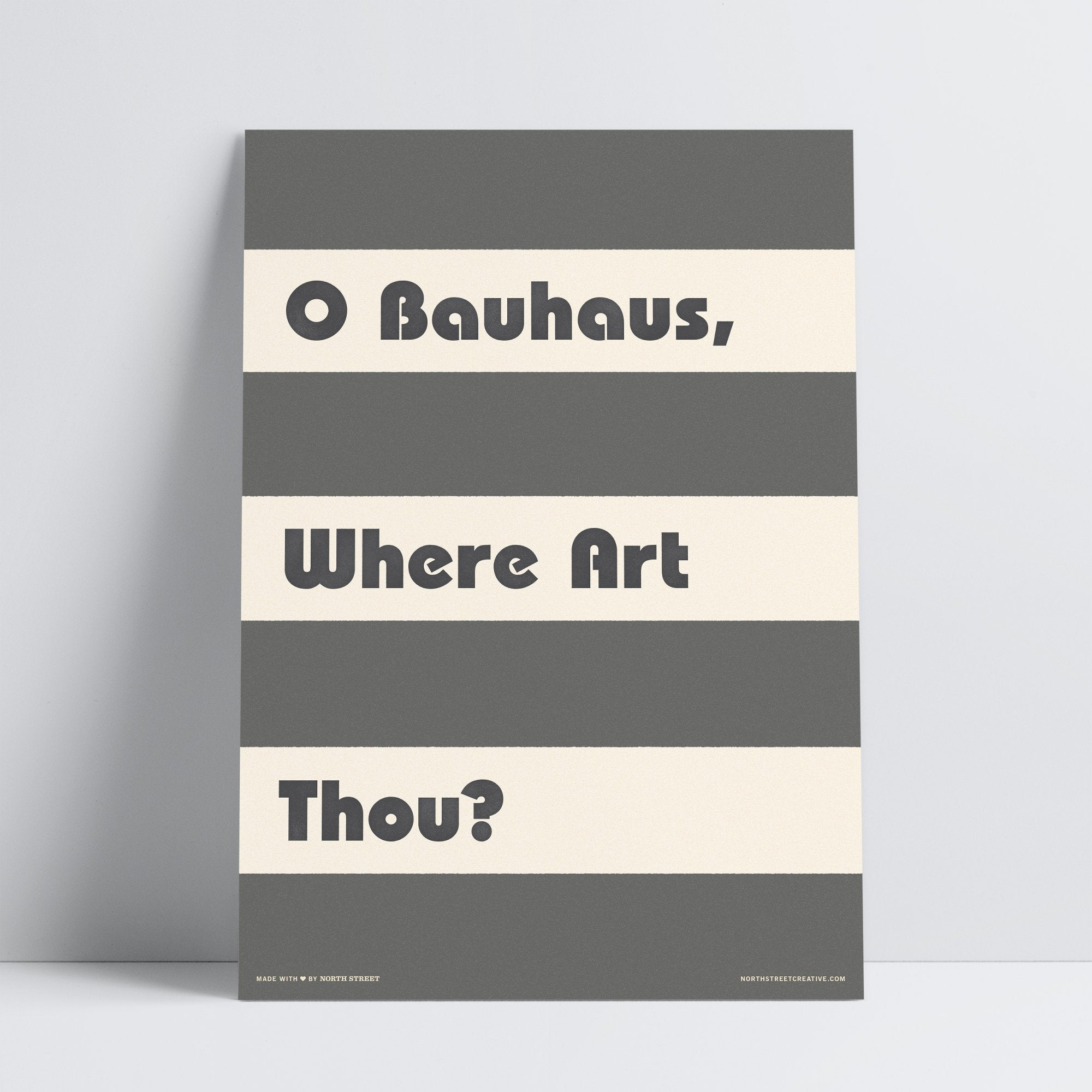 O Bauhaus, Where Art Thou?