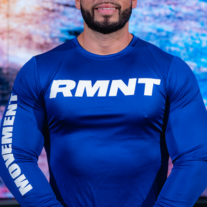 Dry - Fit RMNT Long Sleeve Blue / White