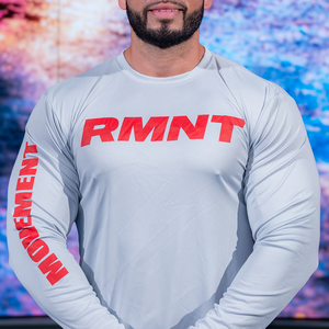 Dry-Fit RMNT Long Sleeve Silver / Red